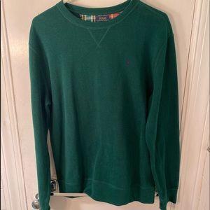 Green Polo Sweater Boys XL Un worn